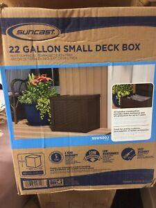 Suncast Deck Patio Toy Storage Box Bin Container Waterproof for Outdoor Indoor