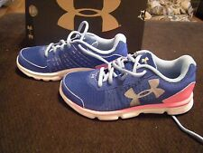 2deb5f4b9 New Girls Blue   Pink Under Armour Micro Speed Swift Tennis Shoes