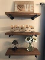 Floating Shelves 9 Inch 1900 S Rough Cut Lumber Your Choice Of Length And Color Shipping