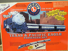 Lionel Very Rare Texas & Pacific Eagle Passenger Set W/ RS, 6-31919, Mint C-10