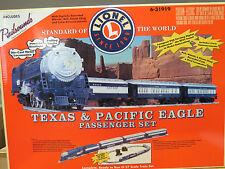 Lionel Very Rare Texas & Pacific Eagle Passenger Set W/ RS, 6-31919, Mint C-10