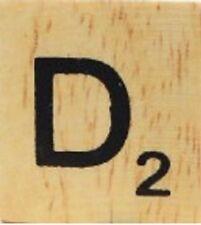 INDIVIDUAL WOOD SCRABBLE TILES! 8 FOR $2, THEN 25 CENTS PER TILE. LETTER D
