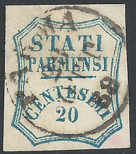 ITALIA-STATI Parma: 1859 20 C BLU - 2024
