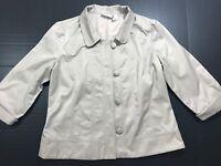 Chico's women Beige Tan Button Down Jacket Blazer Size 2 Medium 1041