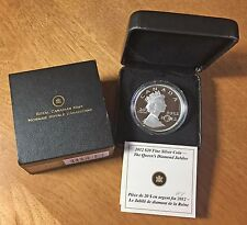 2012 Silver Proof $20 Queen's Diamond Jubilee CANADA Case, Slipcover & COA