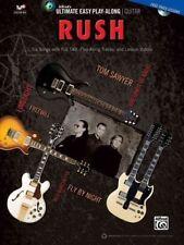 Rush Ultimate Easy Guitar Play Along 6 Songs! Tab Book Cd NEW!