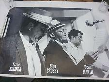 FRANK SINATRA Poster - B&W Full Size Celebrity Print ~ Dean Martin & Bing Crosby