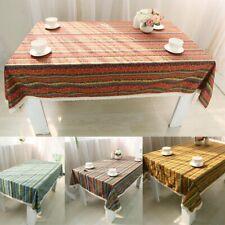 Boho Cotton Linen Lace Tablecloth Rectangular Square Tea Table Cloth Cover Decor
