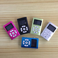 "MP3 Player mit 1.8"" LCD Screen mit 32GB Micro Karte Clip-Funktion Metall B8C1"