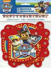 PAW PATROL HAPPY BIRTHDAY BANNER ~ Party Supplies Hanging Decorations Marshall