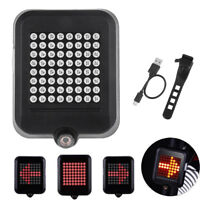 64 LED Laser Bicycle Rear Tail Light Bike Turn Signals Light Wireless Remote