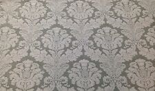 "P Kaufmann Chenille Damask Sage Jacquard Designer Fabric By The Yard 54""W"