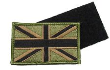 Union Jack Patch Army Olive Military Flag Badge UK Forces R1826