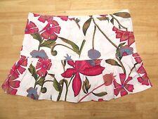 Buffalo by David Bitton EARA White Red Blue  Floral Pleated Mini Flounce sz 30