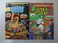 Lot of 2 AMERICA VS. THE JUSTICE SOCIETY #1 2 1985 DC Comics (C7387)