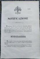 1847 PROGRAMMA DELLA FESTA IN OCCASIONE DELLA NASCITA DELLA GUARDIA CIVICA