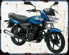 Bajaj Platina 125 09 02 A4 Metal Sign moto antigua añejada De