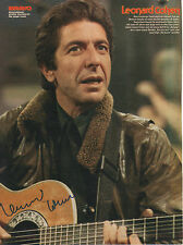 Leonard cohen autógrafo signed a4 Revista Imagen