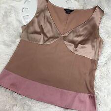 VICTORIA'S SECRET Women's Moda International Silk Camisole Pink Tank Top Size M