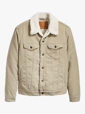 Levi's TYPE 3 True Chino / Beige Cord Sherpa Trucker Jacket - XL -