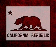 "California Republic Flag Bear Star 8.5"" x 11"" Stencil FAST FREE SHIPPING (527)"
