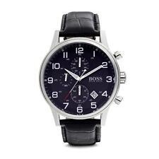 HUGO BOSS 50 m (5 ATM) Armbanduhren mit 12-Stunden-Zifferblatt für Erwachsene