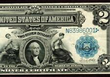 $2 1899 Mini Porthole ( Higher Grade Vf+ ) Silver Certificate Paper Currency