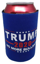 Trump -2020- No More BS Bullshit Blue Collapsible Insulated Printed Can Jacket