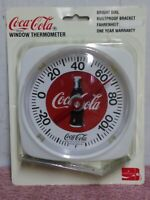 """1993 Taylor Coca Cola Dial Thermometer 5.25"""" X 5.5"""" New Old Stock"""