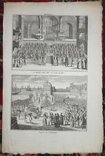 BERNARD PICART Engraving Removed From Ceremonies Et Coutumes Religieuses C1735 g