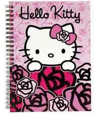 4 teiliges Hello Kitty Schreibset / Notizbuch / Sticker / Notizblock gestanzt