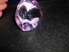 "SMALL UNUSUAL GLASS PAPERWEIGHT CNG CAITHNESS ? PYRAMID PEBBLE LILAC 2"" 178g"