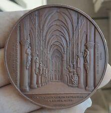 Architectural rare bronze Wiener Eglise des saints Michel et Gudule à Bruxelles