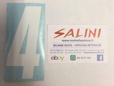 Numero Numeri adesivi gara moto cross QUATTRO Bianco - 10 cm