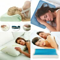 Cooling Memory Foam Pillow Orthopaedic Hypoallergenic Head Neck Back Support