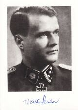 More details for walter reder - signed photo - knight's cross of the iron cross