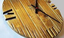 Orologio muro parete legno Pallet shabby chic vintage 40cm meccanismo clock wall