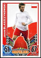 Jakub Blaszczykowski Poland #114 England 2012 Match Attax TCG Card (C206)