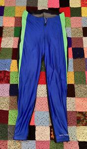 Vintage Cannondale Men's Mountain Bike Pants Cycling Large Neon Green Blue Black
