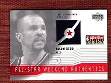 2003-04 Upper Deck All Star Weekend Jason Kidd #AS-JK Nets Basketball Card