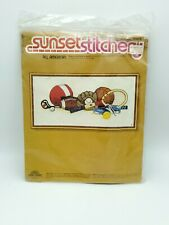 Sports Equipment Crewel Embroidery Kit All American by Sunset Stitchery 2601 New