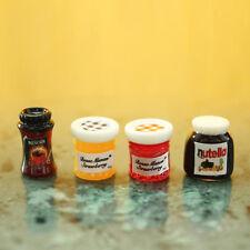 4pcs Mini 1:12 Kitchen Food Jam Coffee Condiment Random DIY Dollhouse Decoration