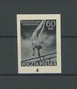 POLAND OFFICIAL BLACK PRINT 1958 RARE !! SPORTS SPARTAKIAD GYMNASTICS /m1922