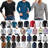 Mens Long Sleeve T-Shirt Stylish Slim Fit Muscle Casual Tee Shirts Tops Blouse