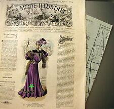 LA MODE ILLUSTREE + PATRON,  n° 38/1904 Voir modèles à réaliser, FRENCH PATTERN