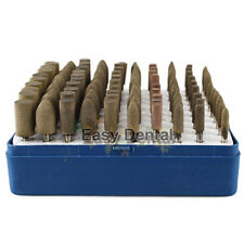 NEW 100pcs Leather Polishing Burs Polishers Buffing Rotary Tool 3mm Cone Column