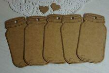 20 Quality Kraft Die Cut Gift Tags Mason Jars blank DIY + Twine *Markets*Gifts*