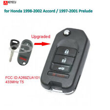Flip Remote Car Key Fob 433MHz T5 for Honda 1998-2002 Accord 1997-2001 Prelude