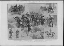 1902 Antique Print - ITALY Army Bersaglieri Piedmont Cavalry Carabinieri  (34)