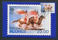 AZOREN MK 1981 EUROPA CEPT PFERD HORSE MAXIMUMKARTE MAXIMUM CARD MC CM d6265